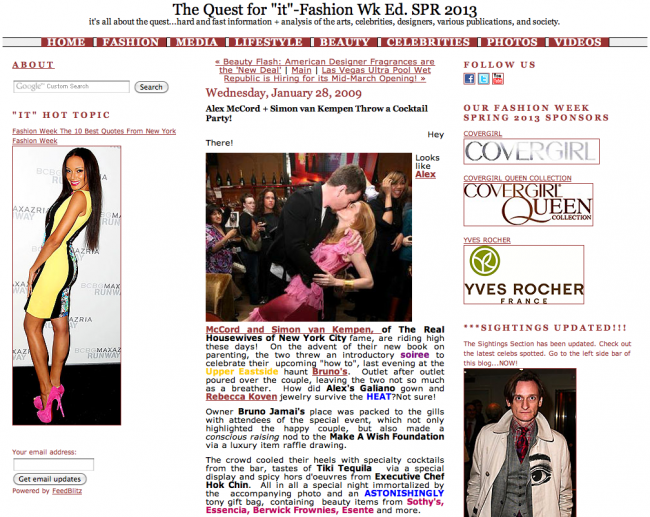 """The Quest for """"it""""-Fashion Wk Ed. SPR 2013"""