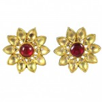 Enamel Flower Earrings FULL