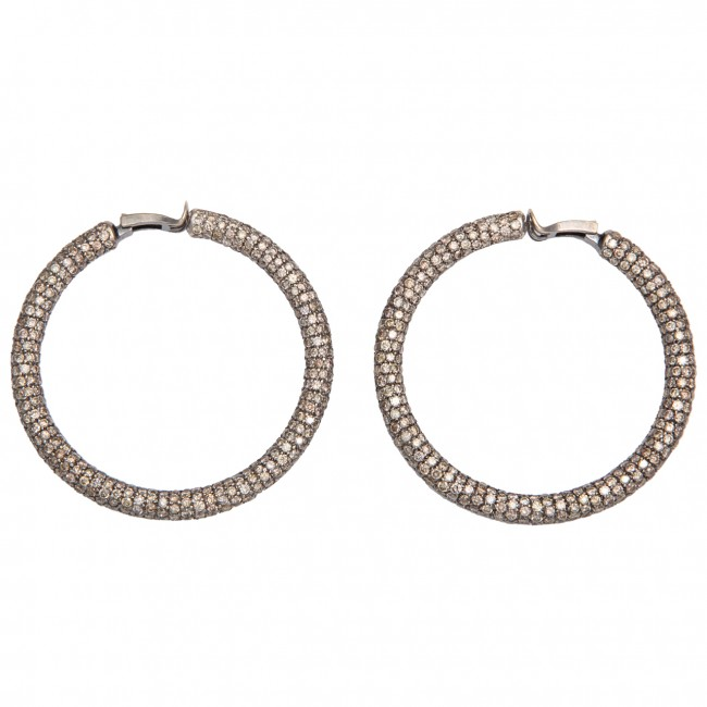 Mermaid Diamond Hoop Earrings.FUL