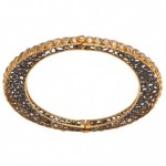 Oval Rose Cut Diamond Bracelet 01
