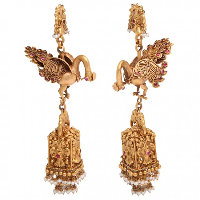 Peacock Earrings FULL